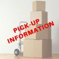 PICK-UP DATES & TIME - Wednesday, AUGUST 28 and THURSDAY, AUGUST 29, 2018 from 10:00 AM to 4:00 PM each day - at our Havelock, NC Pick-Up Facility.