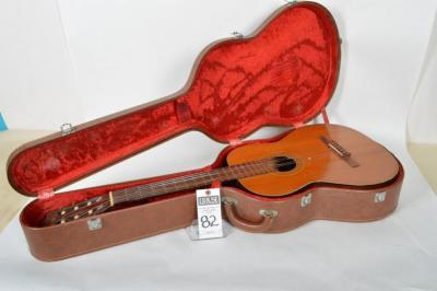 1967 Handmade YAIRI 6 String Acoustic Guitar with Strap and Case, Needs new Strings, Redwood Neck, & Rosewood Fret Board