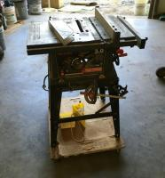"CRAFTSMAN 10"" 3.0 Table Saw in Good Working Order Model # 137.248100 With, Combo Angle, Tire Chocks, Saw Sled, and Saw Blades"