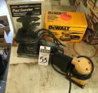 Two (2) Pad Sanders; CRAFTSMAN Pad Sander 9 11611, DEWALT Palm Grip Sander 1/4 Sheet DW411