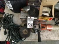 CHICAGO 4.5 Inch Angle Grinder, Extension Cord, Bits, and Thin Cutting Wheels