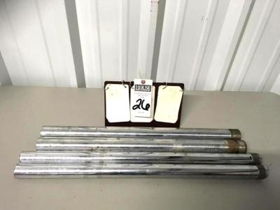 Four (4) Fork Tubes (2) 28 1/2 Inch Long, (2) 25 1/2 Inch Long