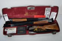 CAESAR GUERINI Model Canna Intercambiabile MAGNUS LIGHT Over/Under 28 ga. & 20 ga. Interchangeable Barrels, New in Case w/ Factory Docs, Ser # 110839