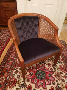 Very Early Side Chair with Velvet Upholstery