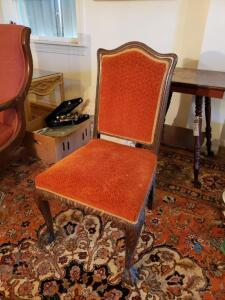 Orange Antique Side Chair