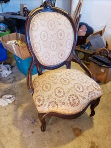 Oval Back Victorian Chair