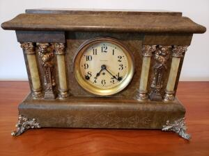 SETH THOMAS COMPANY 1880 Clock with Adamantine Mantle Clock with Key