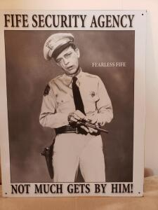 "MAYBERRY ENTERPRISES ""Fearless Fife"" Classic Sign"