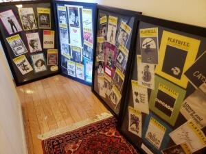 Framed Theatre Memorabilia from Playbill and Westchester Premier Theater (4 Signs)