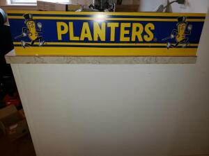 Rare Planters Sign (Blue and Yellow) 36' Long
