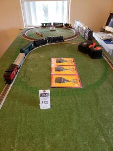Assorted Model Trains & Accessories: LIONEL Pennsylvania Flyer Electric O Gauge, BACHMANN HAWTHORNE VILLAGE, THOMAS KINKADE TRAIN SET. Addl pieces. RE