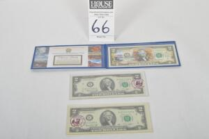 Grand Canyon National Bank $2 Bank Note Including Two (2) $2 Bills