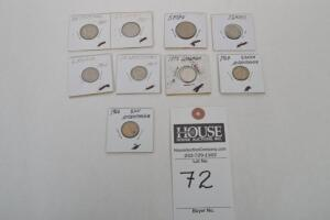Rare Coins - Nine (9) Coins Dating 1937 - 1978