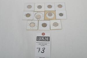 Great Nickel Collection Containing 11 Rare Coins