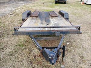 MASTER TOW Equipment Trailer - 22' x 7' - 7000 LB Capacity, Dove Tail with Loading Ramps, Good Condition, with Title, VIN: 4DFCC1629DN108606