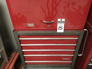 "CRAFTSMAN Portable Tool Chest with 17 Drawers 1 Bottom Cabinet and Top Tray in Good Condition No Key 59""x26""x17.25"""