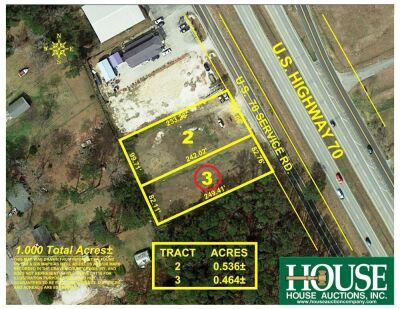 261 US Hwy 70 W., Havelock, NC 28532, 0.46 +/- Acre Prime Commercial Parcel with 82 ft. Hwy Frontage on US Hwy 70, Zoned HC, Water & Sewer, AADT 31,000