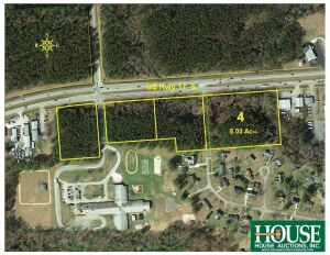 4100 block of US Hwy 17 S, New Bern, NC 28562, Excellent 5.03 +/- Acres Commercial Land, with 555 +/- feet on US Hwy 17 S, Zoned C-3 Commercial & R-15 Residential