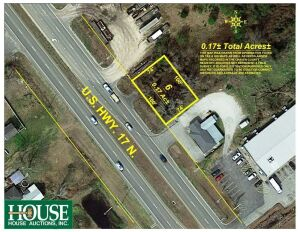 804 US Hwy 17 N, Bridgeton, NC  28519, Prime Highway Commercial Parcel, 0.17 +/- Acres on US Hwy 17 N, Bridgeton, NC, Excellent Roadside Sales Location, 100 +/- ft. Hwy Frontage