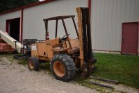 CASE 584E CONSTRUCTION KING Rough Terrain Forklift, CUMMINS 4BT diesel engine, OROPS, 3728 hours showing, 21 ft. mast height, runs good –SELLER RESERVES RIGHT TO RETAIN & USE CASE FORKLIFT FOR LOAD-OUT ON FRIDAY & SATURDAY, OCTOBER  23 & 24. BUYER MAY TAK - 2