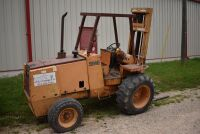 CASE 584E CONSTRUCTION KING Rough Terrain Forklift, CUMMINS 4BT diesel engine, OROPS, 3728 hours showing, 21 ft. mast height, runs good –SELLER RESERVES RIGHT TO RETAIN & USE CASE FORKLIFT FOR LOAD-OUT ON FRIDAY & SATURDAY, OCTOBER  23 & 24. BUYER MAY TAK - 3