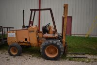 CASE 584E CONSTRUCTION KING Rough Terrain Forklift, CUMMINS 4BT diesel engine, OROPS, 3728 hours showing, 21 ft. mast height, runs good –SELLER RESERVES RIGHT TO RETAIN & USE CASE FORKLIFT FOR LOAD-OUT ON FRIDAY & SATURDAY, OCTOBER  23 & 24. BUYER MAY TAK - 5