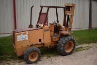 CASE 584E CONSTRUCTION KING Rough Terrain Forklift, CUMMINS 4BT diesel engine, OROPS, 3728 hours showing, 21 ft. mast height, runs good –SELLER RESERVES RIGHT TO RETAIN & USE CASE FORKLIFT FOR LOAD-OUT ON FRIDAY & SATURDAY, OCTOBER  23 & 24. BUYER MAY TAK - 6