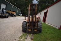 CASE 584E CONSTRUCTION KING Rough Terrain Forklift, CUMMINS 4BT diesel engine, OROPS, 3728 hours showing, 21 ft. mast height, runs good –SELLER RESERVES RIGHT TO RETAIN & USE CASE FORKLIFT FOR LOAD-OUT ON FRIDAY & SATURDAY, OCTOBER  23 & 24. BUYER MAY TAK - 8