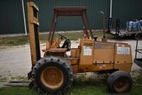 CASE 584E CONSTRUCTION KING Rough Terrain Forklift, CUMMINS 4BT diesel engine, OROPS, 3728 hours showing, 21 ft. mast height, runs good –SELLER RESERVES RIGHT TO RETAIN & USE CASE FORKLIFT FOR LOAD-OUT ON FRIDAY & SATURDAY, OCTOBER  23 & 24. BUYER MAY TAK - 10