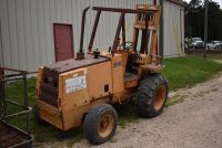 CASE 584E CONSTRUCTION KING Rough Terrain Forklift, CUMMINS 4BT diesel engine, OROPS, 3728 hours showing, 21 ft. mast height, runs good –SELLER RESERVES RIGHT TO RETAIN & USE CASE FORKLIFT FOR LOAD-OUT ON FRIDAY & SATURDAY, OCTOBER  23 & 24. BUYER MAY TAK - 11