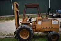 CASE 584E CONSTRUCTION KING Rough Terrain Forklift, CUMMINS 4BT diesel engine, OROPS, 3728 hours showing, 21 ft. mast height, runs good –SELLER RESERVES RIGHT TO RETAIN & USE CASE FORKLIFT FOR LOAD-OUT ON FRIDAY & SATURDAY, OCTOBER  23 & 24. BUYER MAY TAK - 12