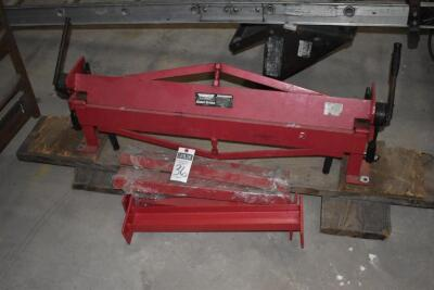 MACHINERY Metal Brake - Harbor Freight sheet metal hand brake w/ metal stand - used very little. PLEASE VIEW ALL PHOTOS