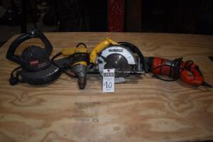 DEWALT corded skill saw - working order, BLACK & DECKER corded saws all- working order, DEWALT corded-plug in drill, working order, TORO corded blower