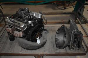CHRYSLER 318 Engine with V-8, running condition, CART NOT INCLUDED. PLEASE VIEW ALL PHOTOS