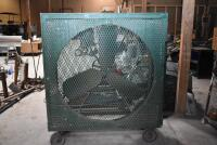 X-large Custom Made Portable Shop Fan on rollers - working order. PLEASE VIEW ALL PHOTOS - 2
