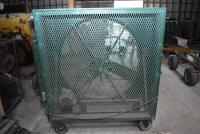 X-large Custom Made Portable Shop Fan on rollers - working order. PLEASE VIEW ALL PHOTOS - 4