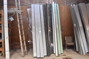 "Large assortment of new commercial sheet metal down spouts - mostly 10' various sizes: 4""x5"" / 6""x6"" / 5x5"" - Approx. 25+ pieces"