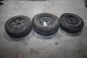 3 Truck Rims & Tires: 17 in. six lug Rim w/ P255-65-R17; 17 in. eight lug Rim w/ LT245-70-17 & 18 in. six lug Rim w/ LT265-65-R18. PLEASE VIEW ALL PHO