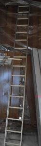 Aluminum ladder, one piece, approx. 16' tall - appears good condition. PLEASE VIEW ALL PHOTOS