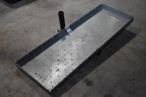 Cooler & Equipment Carrier, 60 in. x 20 in. x 3 in. deep, fits standard 1-1/2 in. recessed (Reese style) hitch. PLEASE VIEW ALL PHOTOS