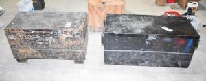 2 Heavy Duty Job Boxes - Steel construction/jobsite storage. PLEASE VIEW ALL PHOTOS