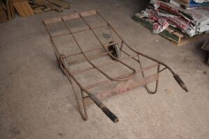 Very early vintage steel tobacco warehouse hand cart-remarkable condition. PLEASE VIEW ALL PHOTOS