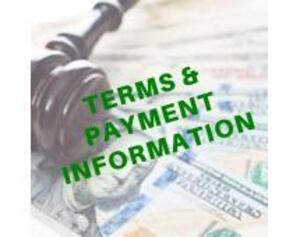 TERMS & PAYMENT: 10% Buyers Premium for payment by Cash or Check, 15% for payment by MC or Visa. NC Sales Tax Applies Unless Exempt Docs Are Presented