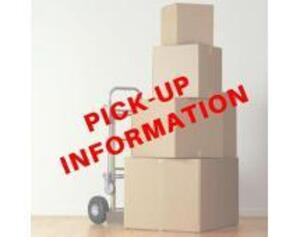 PICK-UP & LOAD-OUT DATE: FRIDAY OCT. 23 from 10:00 AM to 5:00 PM & SATURDAY OCT. 24 from 9:00 AM to 4:00 PM. Bring Necessary Equipment & Labor.