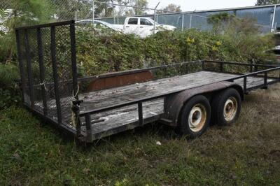 2002 HUGO 16 ft. Utility Trailer, SELLS WITH TITLE, trailer bed measures 16 ft. x 6 ft. 11 inches . VIN: 1B3L3232V20010465