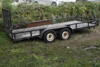 2002 HUGO 16 ft. Utility Trailer, SELLS WITH TITLE, trailer bed measures 16 ft. x 6 ft. 11 inches . VIN: 1B3L3232V20010465 - 3