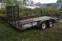 2002 HUGO 16 ft. Utility Trailer, SELLS WITH TITLE, trailer bed measures 16 ft. x 6 ft. 11 inches . VIN: 1B3L3232V20010465 - 4