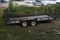2002 HUGO 16 ft. Utility Trailer, SELLS WITH TITLE, trailer bed measures 16 ft. x 6 ft. 11 inches . VIN: 1B3L3232V20010465 - 9