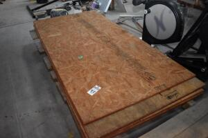 Six sheets of 3/4 inch OSB - rolling table NOT INCLUDED, just OSB sheets - PLEASE VIEW ALL PHOTOS