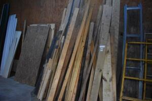 Huge assortment of lumber, most in great condition, some plywood - leaning against walls - PLEASE VIEW ALL PHOTOS